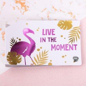 "Визитница ""Live this moment. Love your life"""