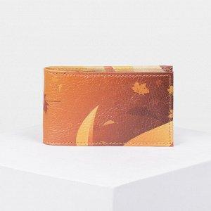 Визитница, 1 ряд, 18 листов, фотопечать, цвет оранжевый