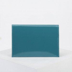 Обложка для паспорта, цвет изумрудный