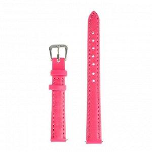 Ремешок для часов, 12 мм, женский, натуральная кожа, l=20 см, розовый