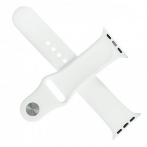 Ремешок для часов , 38 мм, l=24 см, белый, силикон
