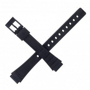 Ремешок для часов 12 мм, чёрный, 18 см