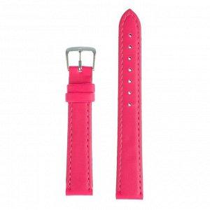 Ремешок для часов, 16 мм, женский, натуральная кожа, l=20 см, розовый