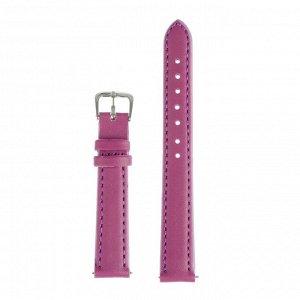 Ремешок для часов, 14 мм, женский, натуральная кожа, l=18 см, фиолетовый