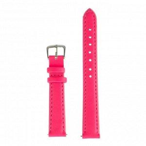 Ремешок для часов, 14 мм, женский, натуральная кожа, l=18 см, розовый