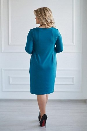 Платье артикул 0120-60 Темно-изумрудный