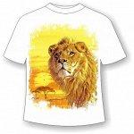 Подростковая футболка Лев желтый