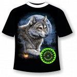 Футболка Волк и костер 915