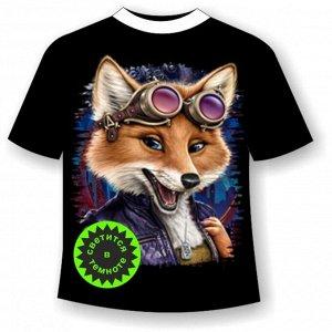 Детская футболка Лиса авиатор 926 (В)