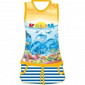 Детское платье Дельфин Море