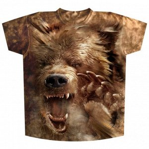 Мужская футболка Медведь злой KP127