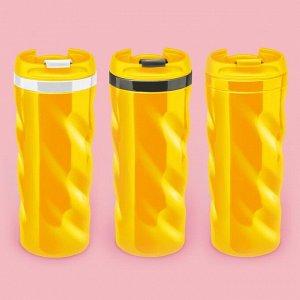 Термостакан волнистый жёлтый МИКС (, 2621350, 2621349)