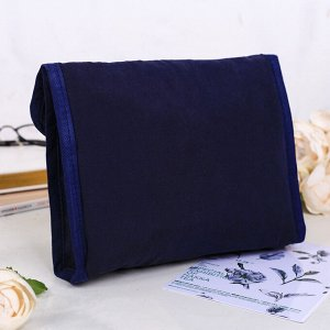 Косметичка-пенал с захлестом темно-синяя, 21 х 14 см