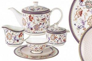 Чайный сервиз Королева Анна, 6 персон, 21 предмет