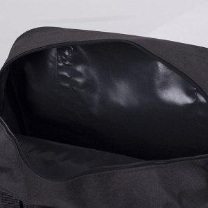 Сумка дорожная, ручная кладь, отдел на молнии, наружный карман, крепление для чемодана, цвет чёрный