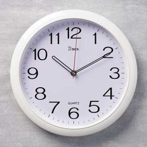 """Часы настенные круглые """"Классика"""".  белый обод. 29х29 см  микс"""