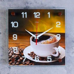"""Часы настенные. серия: Кухня. """"Кофе"""". микс 25х25 см"""