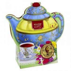 Чай Чай HILLTOP в картонном футляре в форме чайника 'Подарок Цейлона' 80 гр.