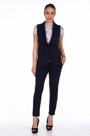 Костюм Состав - Милано (65% вискоза,30% пэ,5% лайкра). Классический костюм, состоящий из удлиненного приталенного жилета и зауженных брюк. Прекрасный вариант для бизнес-леди, эластичная ткань приятн