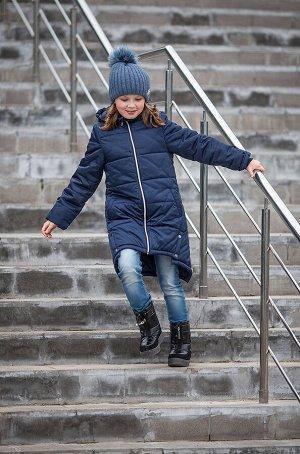 Пальто для девочки ассиметричное