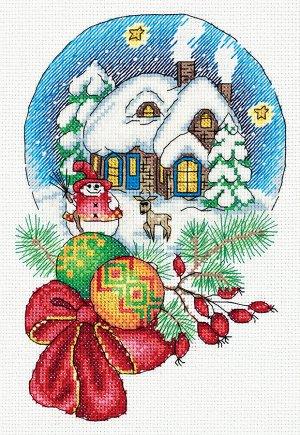 Набор для вышивки Снежный шар
