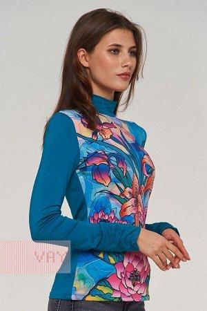 Блузка женская. Цвет: 30-00280/36 т.морская волна/смальта