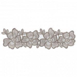 Текстильные цветы - под серебро