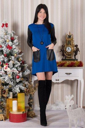 Платье П 358 (васильковый)