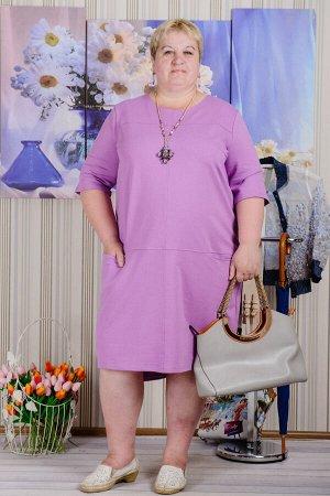 Платье П 595 (сиреневый)
