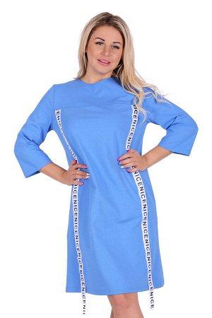 Платье П 733 (голубой)