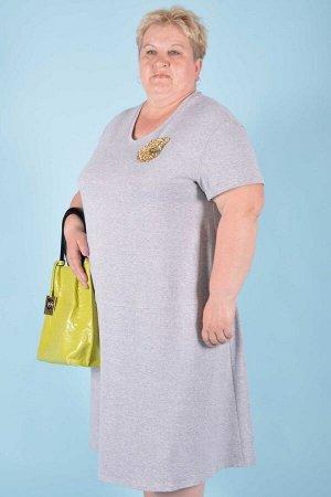 Платье П 588 (серый)