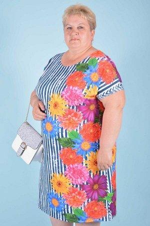 Платье П 585 (георгины)