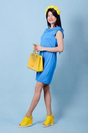 Платье П 542 (голубой)