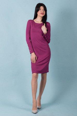Платье П 524 (меланж лиловый)
