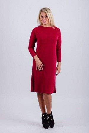 Платье П 604 (бордовый)