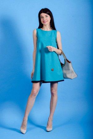 Платье П 546 (изумрудный)