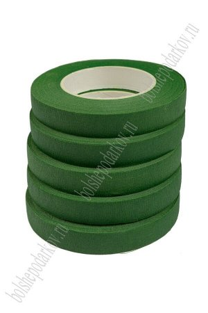 Лента флористическая зеленый, SF-1568 (12 шт) №301