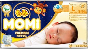MOMI Premium Night подгузники-трусики L( 9-14 кг), 30 шт.🐣