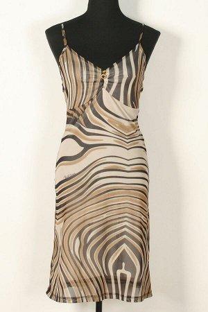 Платье Платья 602, коричнево/бежевый