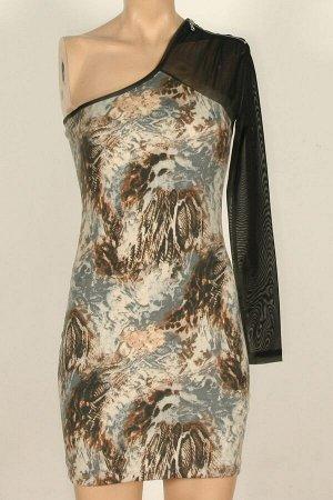 Платье Платья 738, бежево/черно/коричневый