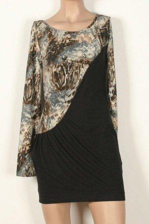Платье Платья 564нн, черно/разноцветно