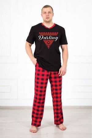 Костюм мужской 748 дарлинг красный (брюки футболка)