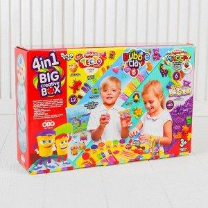Набор «4в1 Песок+тесто+масса+шариковый пластилин» BIG CREATIVE BOX  BCRB