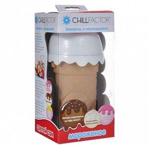 K.CHILLFACTOR.00292 Стаканчик для мороженого КЛУБНИКА _стр., 220х110х110 мм, Картонная упаковка