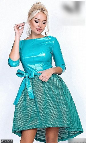Платье 435506-1 ментол Зима 2018 Украина