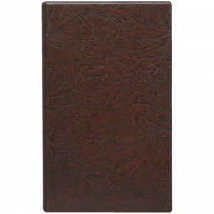 Алфавитная книга ДПС 150*250мм, 24л., 12 файлов-разделителей с карманами для визиток, коричневая