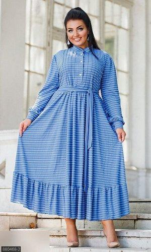 Платье 880468-2 синий Лето 2019 Украина