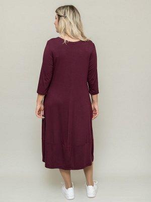 Платье Каприз винный