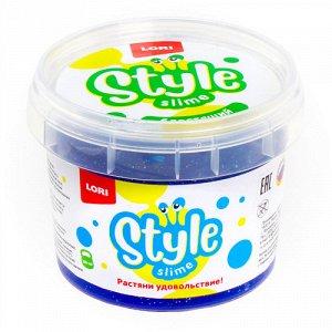"Лизун ""Style Slime"" блестящий, синий с ароматом тутти-фрутти,120 мл.  ТМ ""Лори"""