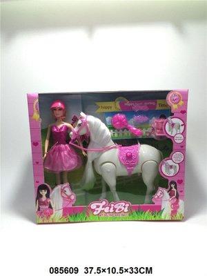 Кукла с лошадью,кор. 37,5*10,5*33 см.